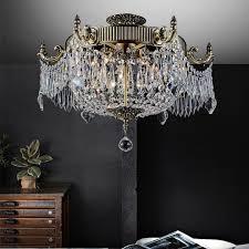 tremendeous flush mount crystal chandelier in mini style 1 light spiral rain drop