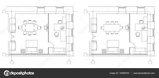 office room plan. Brilliant Office Standard Furniture Symbols Used In Architecture Plans Icons Set Office  Planning Icon Graphic Design Elements Small Office Room  Top View Plans For Room Plan L