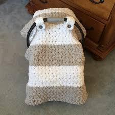 chunky star stitch car seat crochet pattern