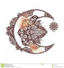 Sole Della Luna Di Alchemia Illustrazione Di Stock Illustrazione