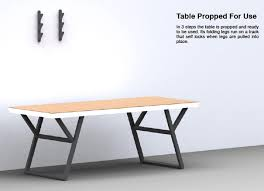 Designer Folding Table Table On The Wall Yanko Design