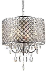 stasia 4 light drum crystal chandelier