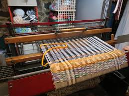 lou ann morgan of climax weaves on a cast iron loom it s been in her family for more than a hundred years her rugs will be on display at sarkozy bakery in