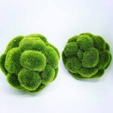 Decorative Moss Balls New Dia 60CM 60pcslot artificial moss balls Decorative Flowers 8