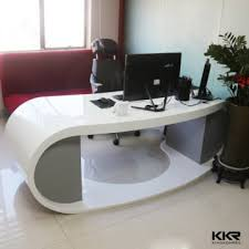 office furniture acrylic solid surface ceo office desk counter acrylic office desk