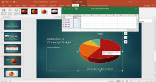 Excel Chart In Powerpoint Computer Applications For Managers