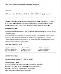Telephone Sales Representative Resume Samples Resume Examples For Entry Level Customer Service