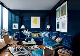 Navy Blue Living Room Paint Color Portfolio Rooms Apartment Therapy Interesting Navy Blue Living Room