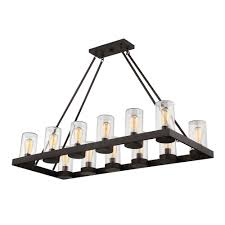filament design 12 light english bronze outdoor hanging chandelier with brown glass shade