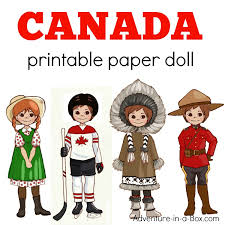 Dress up games coloring book. Canadian Dress Up Paper Doll Printable Template With Colouring Pages Adventure In A Box