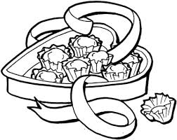 Small Picture Heart shape Candy Box coloring page Free Printable Coloring Pages