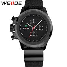 left hand watches promotion shop for promotional left hand watches weide left handed watches black mens military army watch genuine leather strap stainless steel back 30m waterproof gifts for men