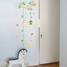 Wall Measuring Chart Growth Chart Nursery Wall Art Decal Decal Jungle Animals Bird Cage Measuring Chart Canvas Growth Ruler Child Baby Vinyl Growth Ruler