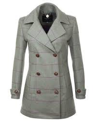 country attire women s angus tweed pea coat pink