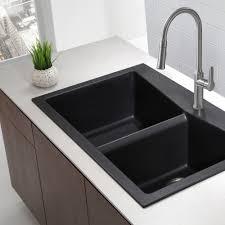 kitchen sinks undermount black granite kitchen sink u shaped gold fiberglass backsplash countertops flooring islands triple bowl