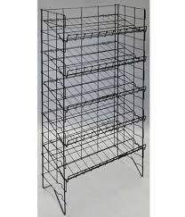 082855 adjule 5 shelf white wire rack 24 5 l x