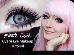 fierce doll eye enlarging gyaru makeup tutorial