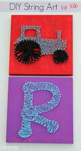 how to diy string art for kids