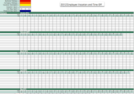 Attendence Tracker Employee Vacation Tracking Excel Unique 2012 Employee