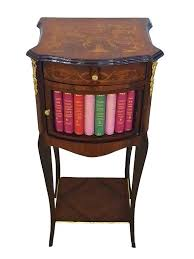 unusual bedside tables galleries unusual side tables bedside ideas table with fake library drawer gorgeous unusual