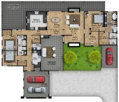 mid century modern house plans. Wonderful Mid MidCentury Modern House Plan With Courtyard  430010LY Floor Plan Main  Level For Mid Century Plans N