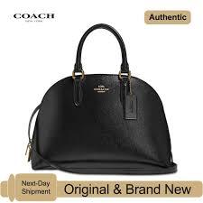 Designer Black Satchel Bags Coach Quinn Satchel In Crossgrain Patent Leather Black Gold