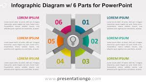 Infographic Diagram With 6 Parts For Powerpoint Presentationgo Com