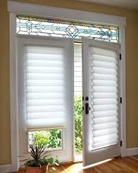 side door window blinds white roman shade on french door with stained glass home designer pro