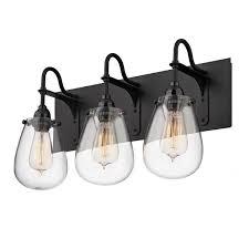 black vanity lighting. fine black black and glass shade vanity strip light on lighting
