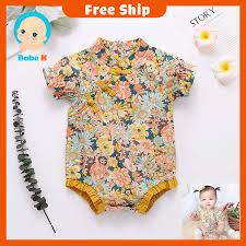 Bộ áo liền thân phong cách sườn xám Trung Hoa ngắn tay thời trang mùa hè  xinh xắn cho bé gái tốt giá rẻ