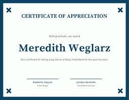 Certificates Of Appreciation Customize 75 Appreciation Certificates Templates Online Canva