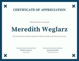 Certificate Of Honor Template Customize 75 Appreciation Certificates Templates Online Canva