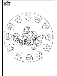Pasen Mandala 2 Kleurplaten Pasen