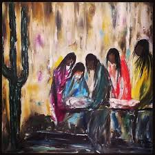 degrazia gallery in the sun s retrospective room papago indian burial oil on