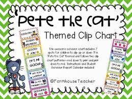 Pete The Cat Themed Behavior Clip Chart