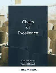 Chairs Of Excellence Report 2019 By Thectsac Issuu