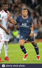 Kylian Mbappe von Paris Saint-Germain in Aktion während des Ligue 1 Uber  Eats-Spiels zwischen Paris Saint Germain und Lyon im Parc des Princes, am  19. September 2021 in Paris, Frankreich.Foto von David