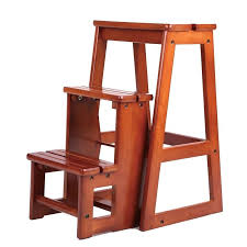 library chair modern multi functional three step library ladder chair library furniture folding wooden library chair