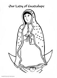 Our Lady Of Guadalupe Coloring Activity
