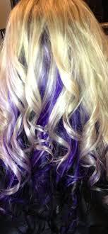 Dark Brown Hair With Purple Peekaboos