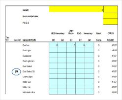 bar liquor inventory spreadsheet 10 liquor inventory templates pdf doc xls free premium