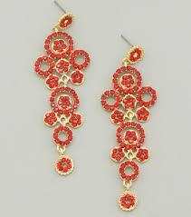 crystal chandelier drop earrings