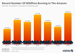 Chart Record Number Of Wildfires Burning In The Amazon