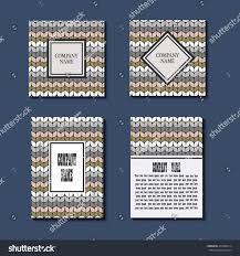 Knitting Cards Designs Set Flyers Brochures Templates Design Cards Stock Vector