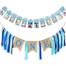 1st birthday banner satinior first birthday banner 1st birthday decoration boy supplies