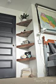 Triangle corner shelves Oak Homedit Diy Corner Shelf Ideas For Your Next Weekend Project
