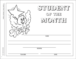Student Of The Month Certificates May Student Of The Month Certificate Printable Awards Incentives