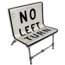 road sign furniture. no left turn chair road sign furniture by tim delger
