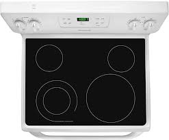 frigidaire ffef3018lw view of cooktop and backguard