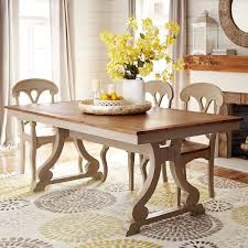 marchella extension linen gray rectangular dining table pier 1 imports